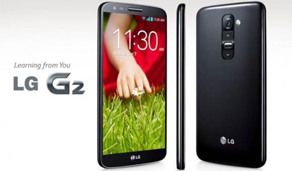LG G2  hátul az újdonság